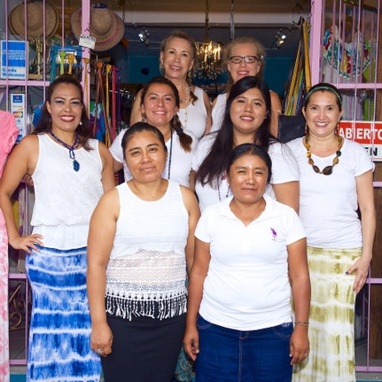Faith Colectiva - Our main operations from Mexico support and are supported by this all-woman cooperative. Once hair-weavers and jewelry-makers on the beach, they now have stability and resources to provide for their families in more substantial ways.All raw materials are sourced for pure quality and each item is made by hand by members of this collective and their families.