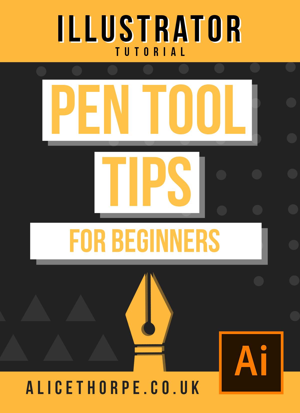 Using The Pen Tool: Beginners Guide   Adobe Illustrator