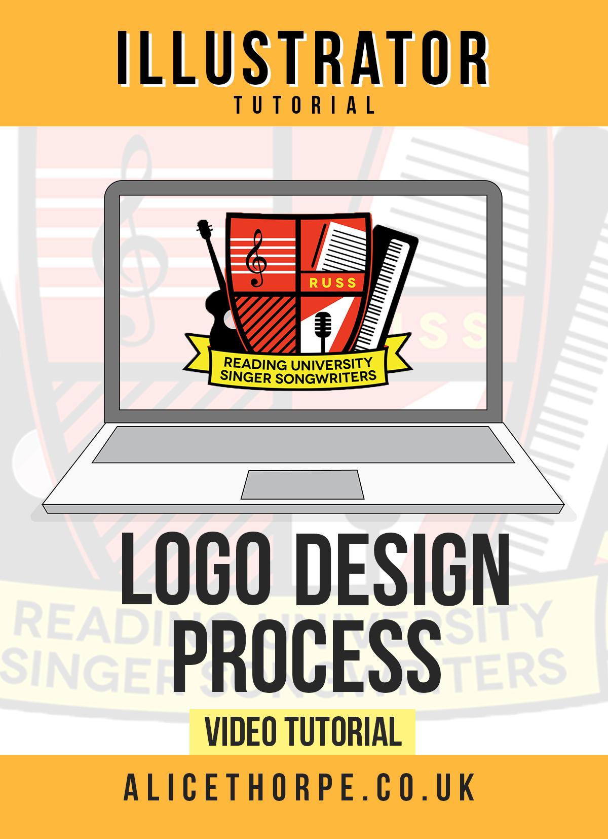 Free Adobe Illustrator tutorial. Logo design by Alice Thorpe