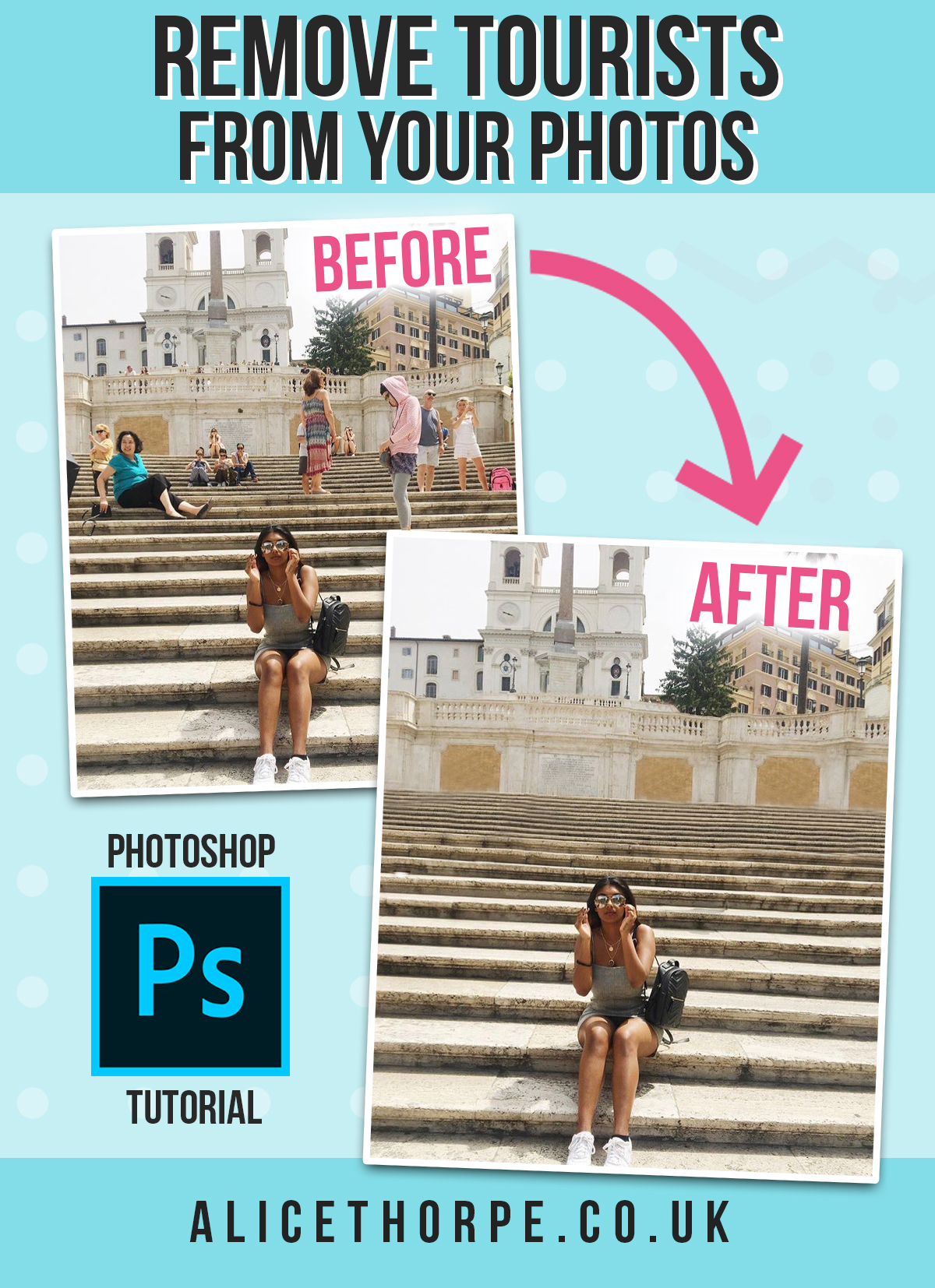 How to remove people from your holiday snaps. Get rid of people in your photos using Adobe Photoshop.