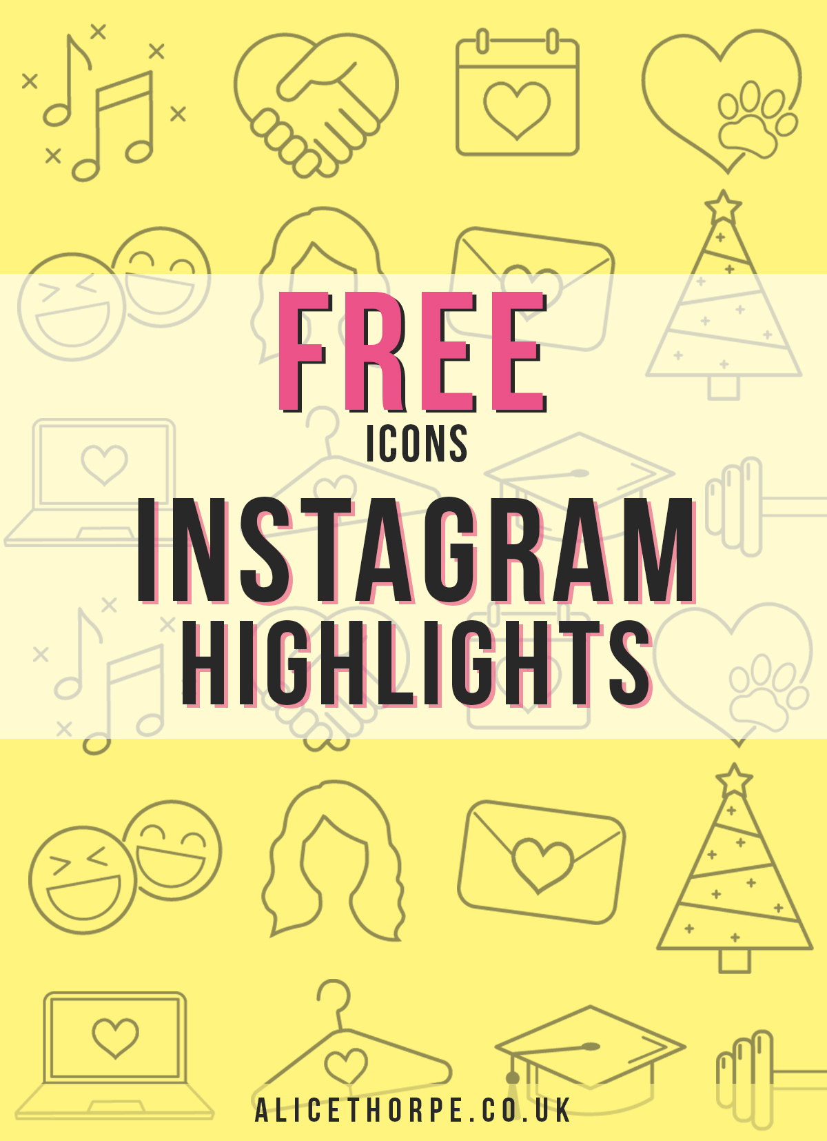 Free Instagram Highlight Icons. Customise to suit your theme.