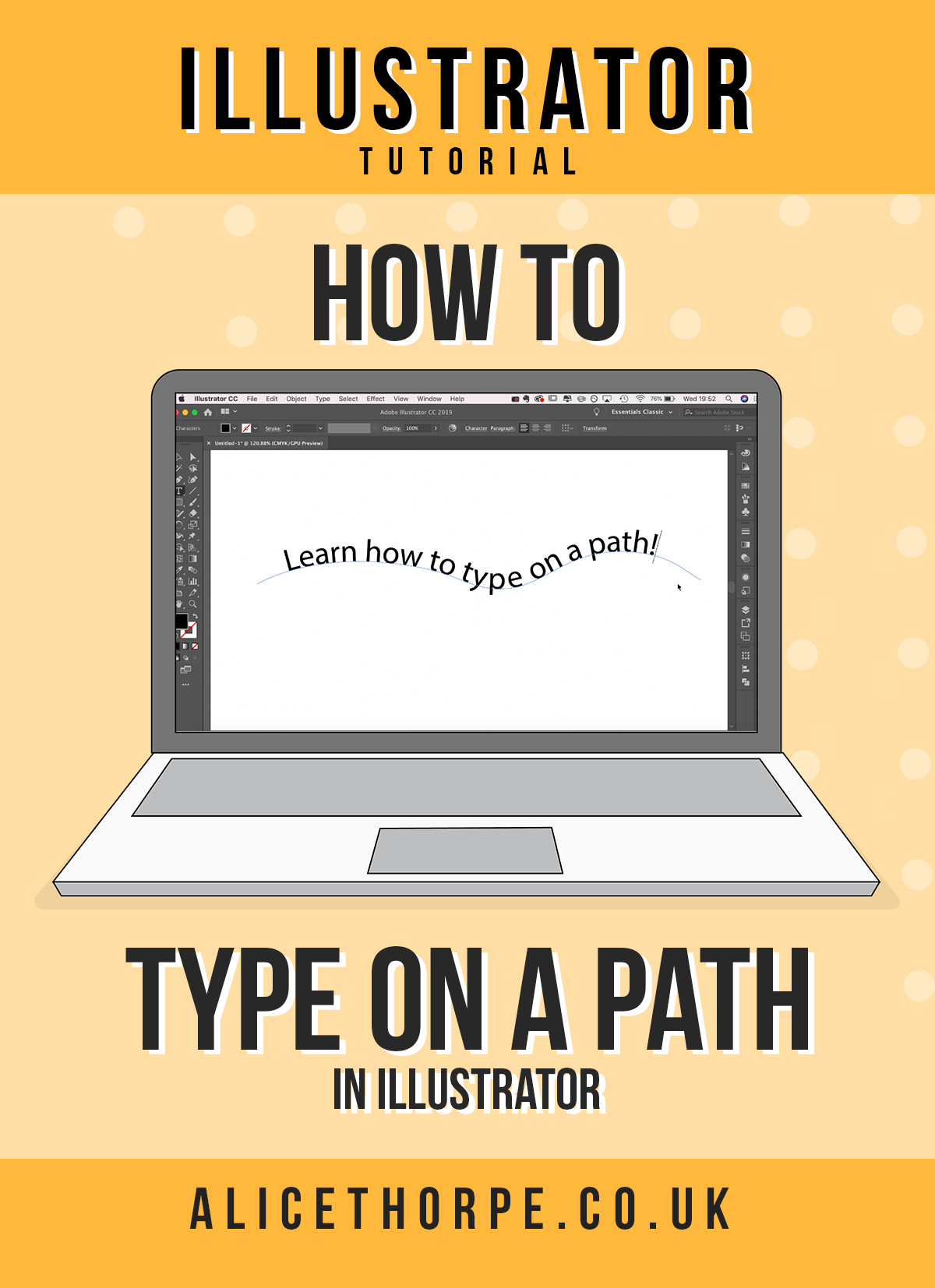 How To Type Perfectly On a Path | Adobe Illustrator Tutorial