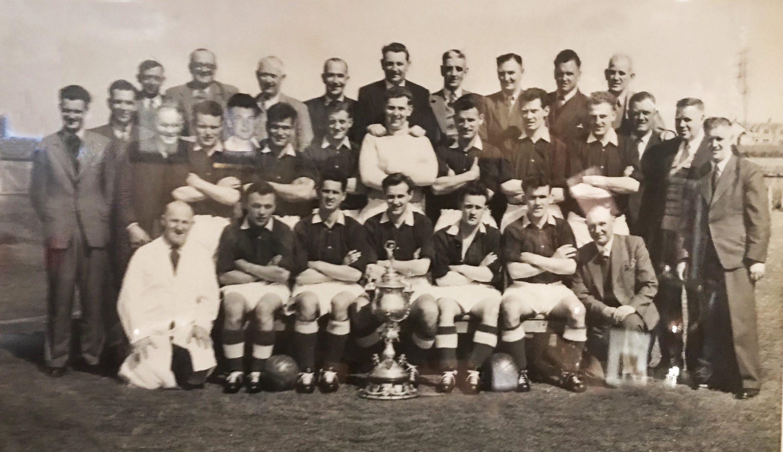 The team that won the Aberdeenshire Cup in 1957-58
