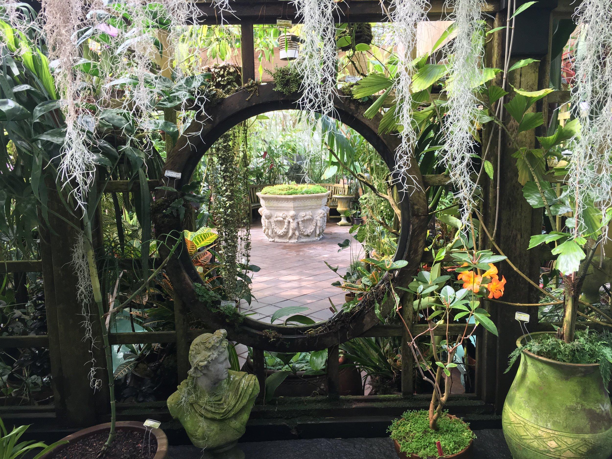 San Francisco Green House Gardens with Fountain