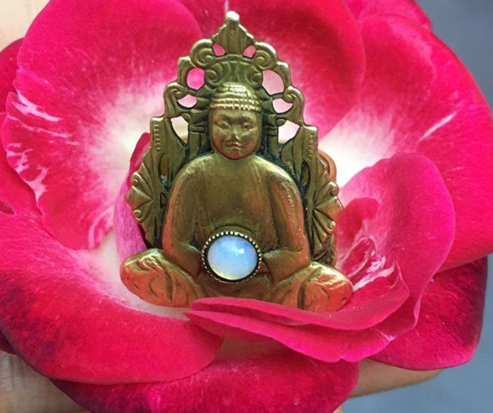 Rose and Buddah Ring