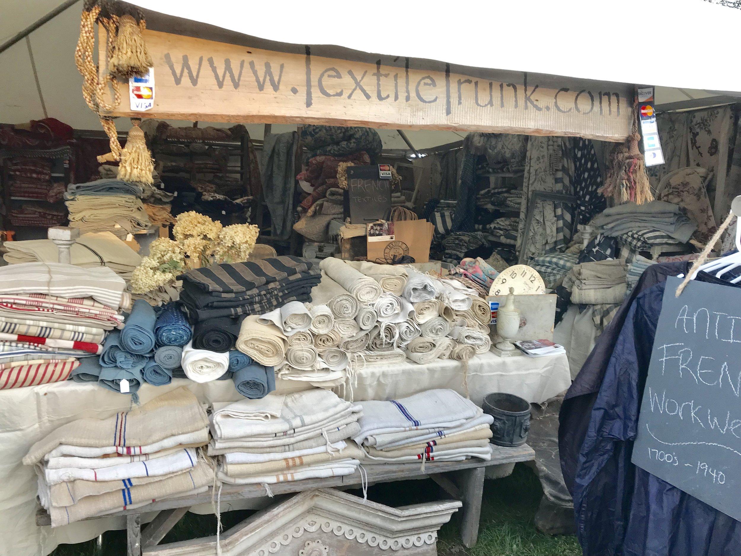 Textile Trunk at Brimfield Antique Show