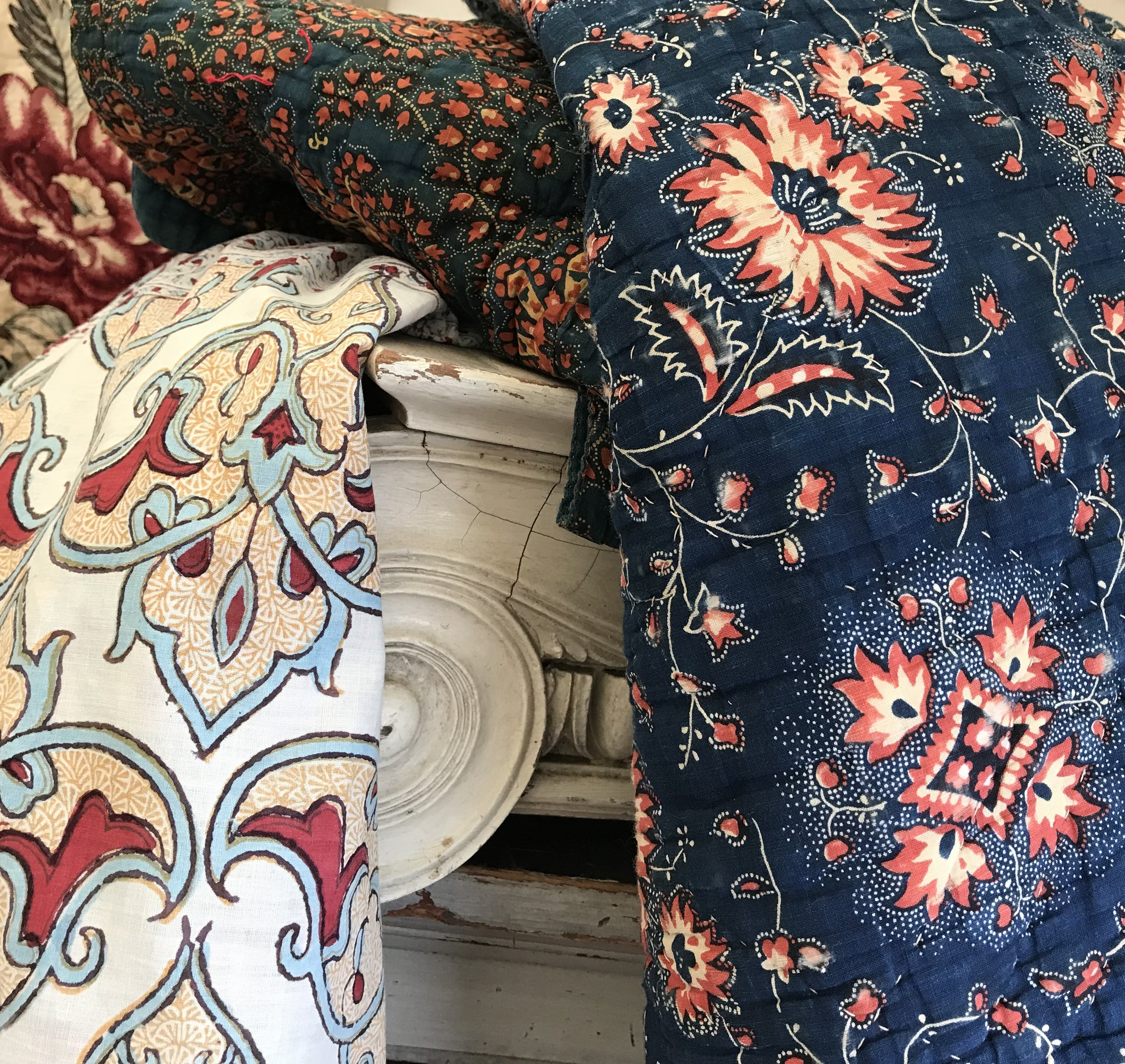 Brimfield Textile Trunk