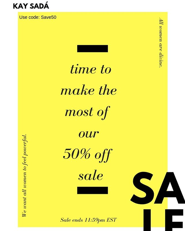 🚨 If you missed our brand's biggest sale, now is your chance to save big today and tomorrow. Yes, we've extended our sale through the weekend. This sale is perfect for if you've been itching to try out Kay Sadà Cosmetics, but weren't ready to drop the coins.  Use code: SAVE50  #kaysadacosmetics