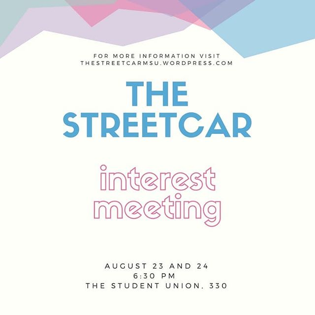 Don't forget about our interest meetings tonight and tomorrow!