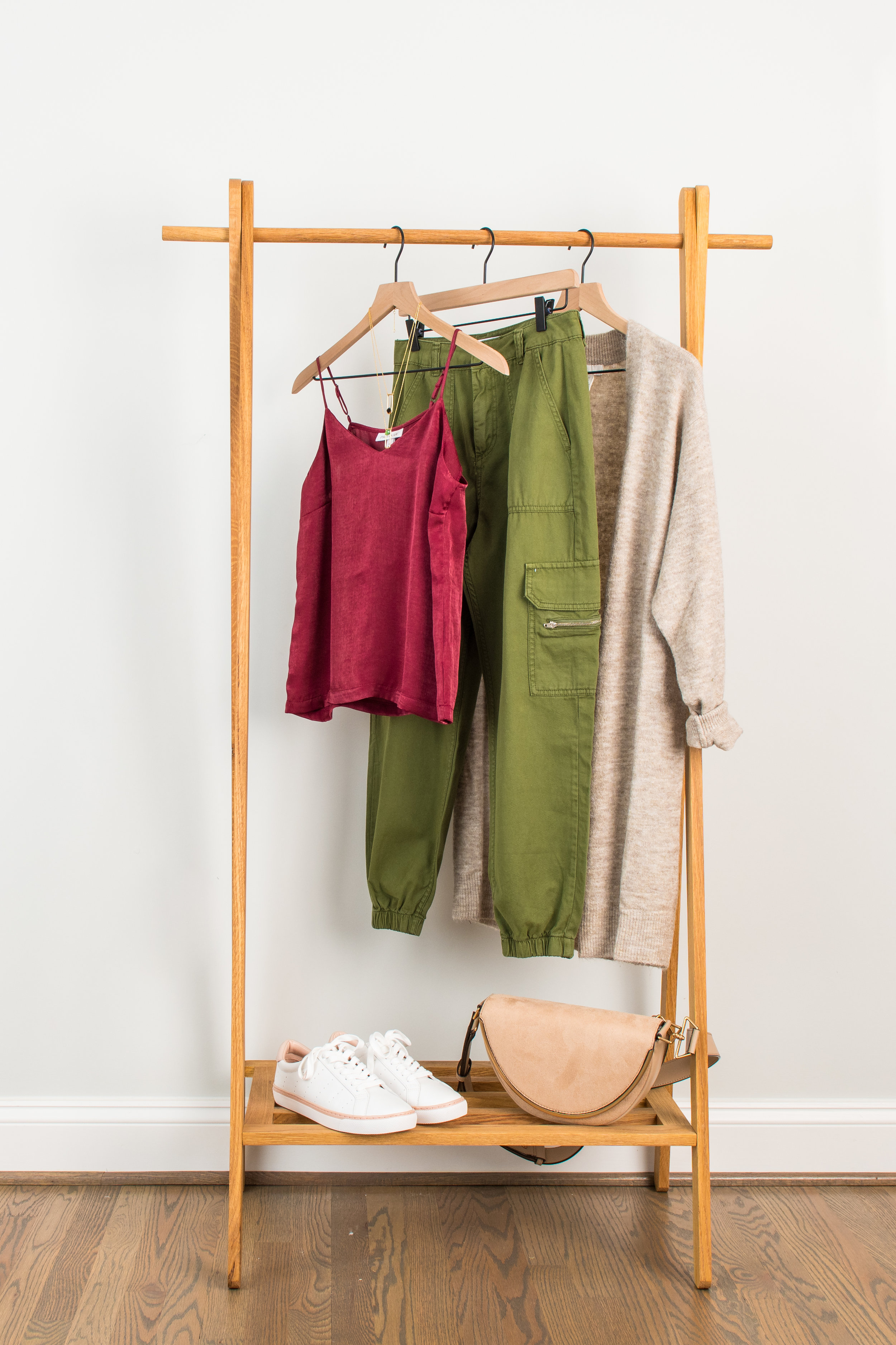 Fall Uniform - Wear to: Brunch or back to school nightSilk Camisole: 1 // 2 // 3Cargo Pant: 1 // 2 // 3Cardigan: 1 // 2 // 3Sneakers: 1 // 2 // 3Necklace: 1 // 2 // 3Bag : 1 // 2 // 3