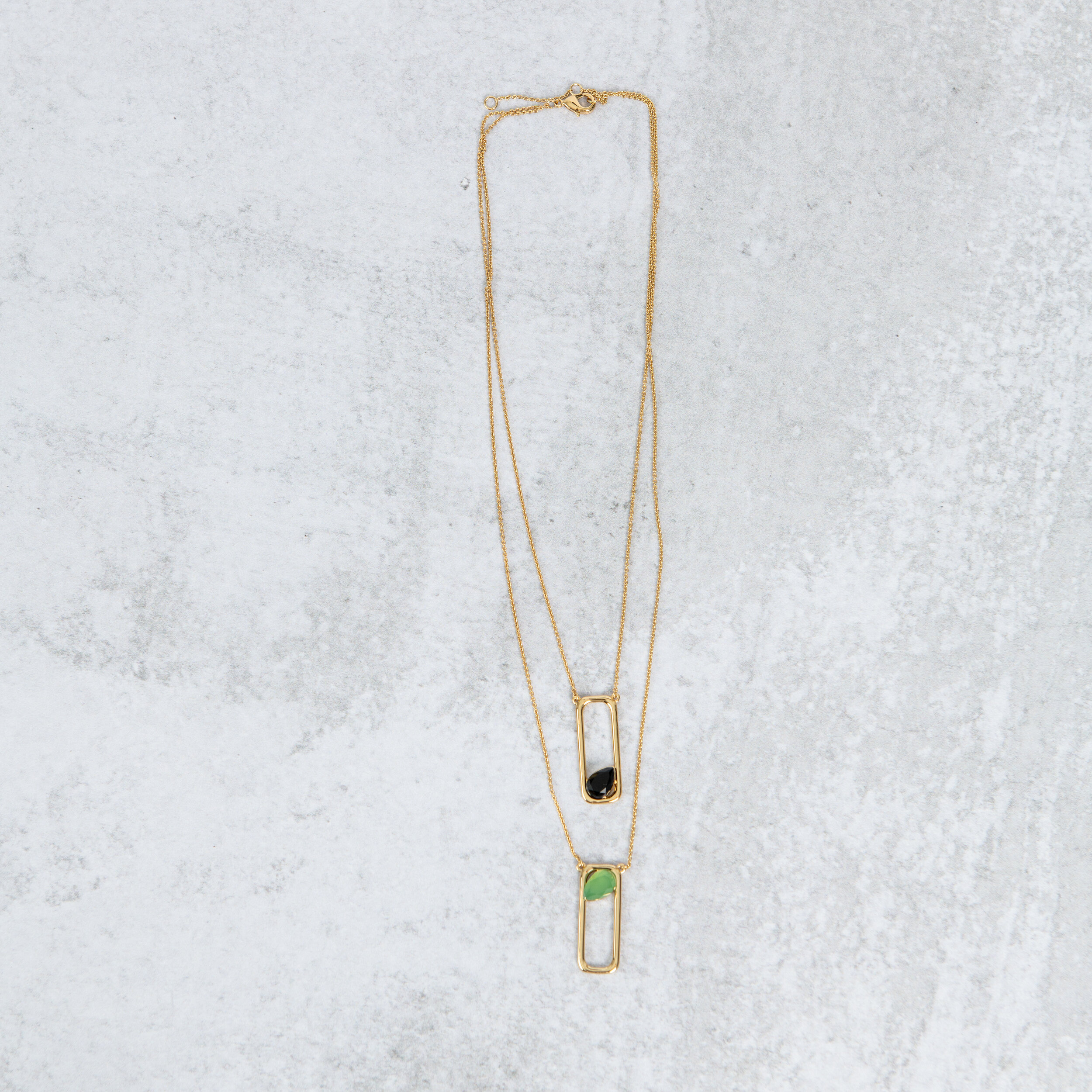 - Layered necklace