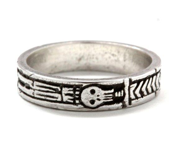 """ Georgian Skeleton Ring "" 21st-C. mourning ring on Etsy."