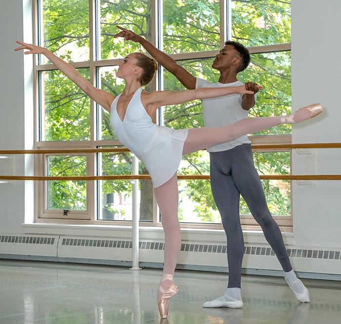 Students of the Boston Ballet School. Photo by Ernesto Galen