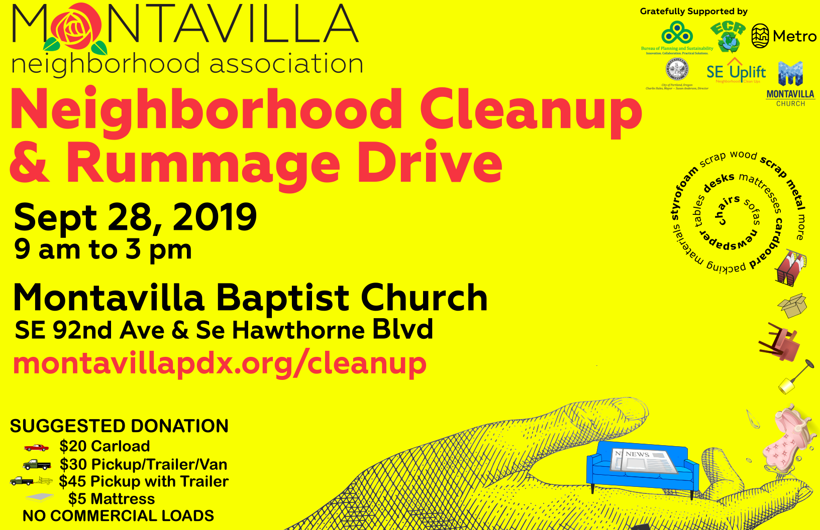 Montavilla Neighborhood Association Cleanup - Sept 28, 2019