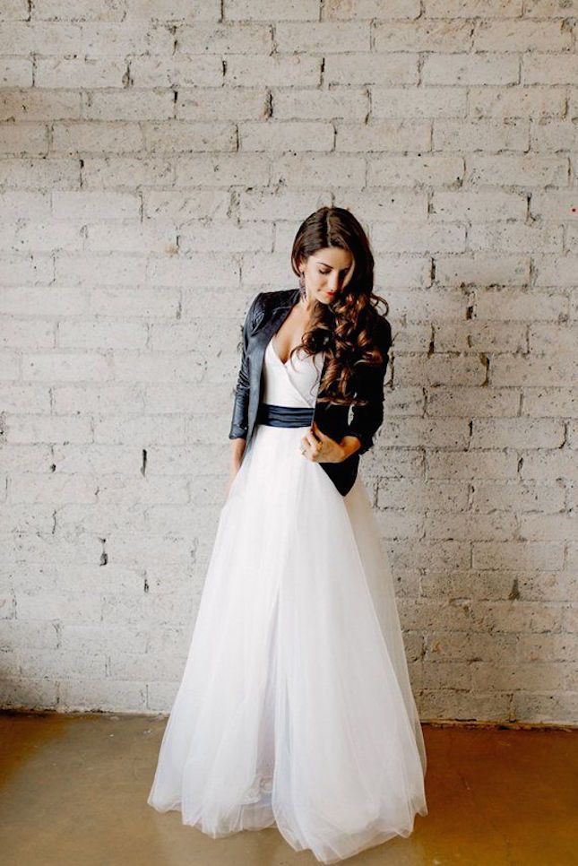 Non-traditional wedding dresses leather jacket.jpg