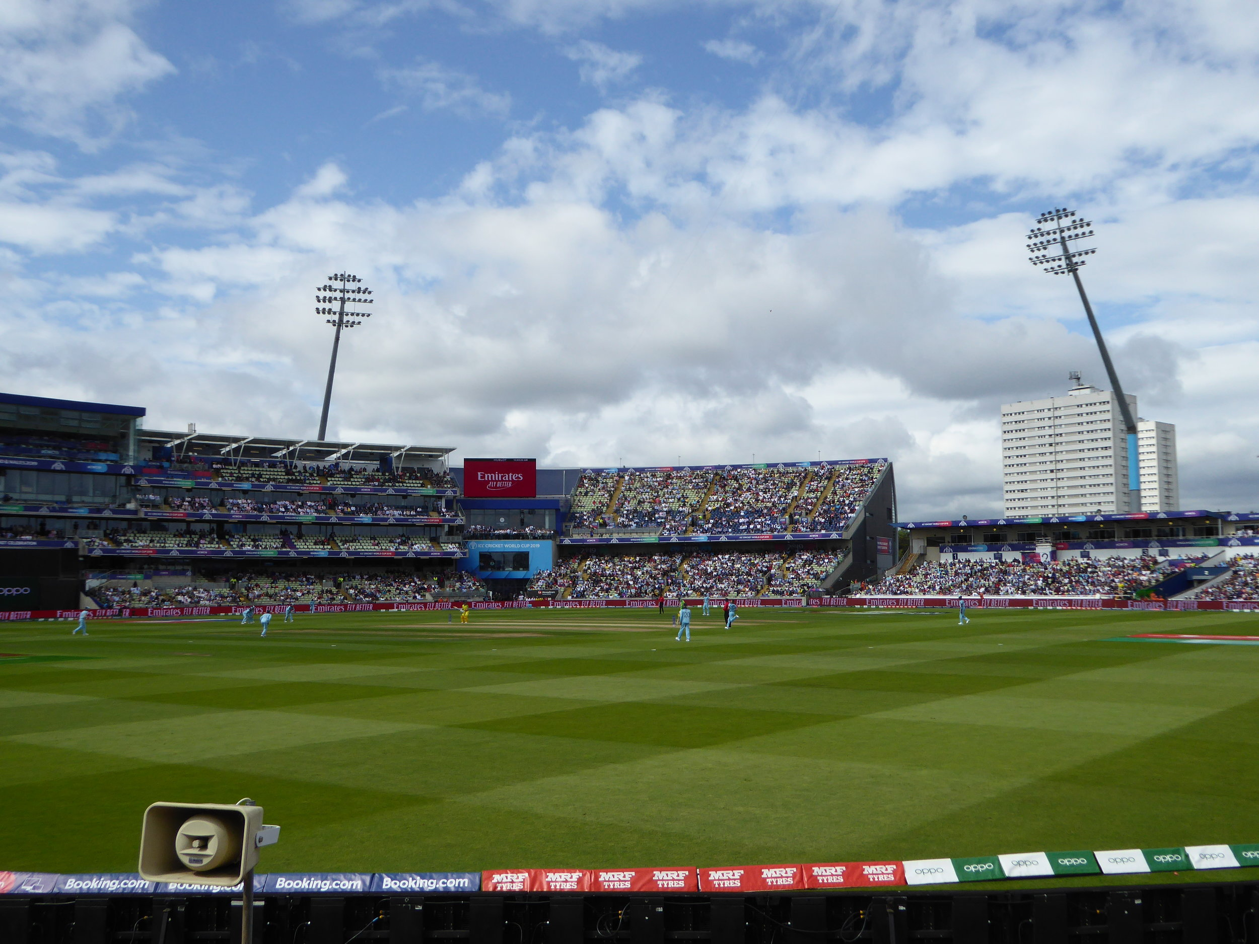 England v Australia: world cup semi-final, Edgbaston, 11 July 2019 - after which I was knocked out by the ICC's ticketing system.