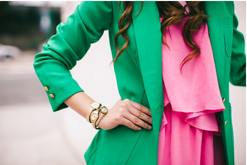 green-and-pink