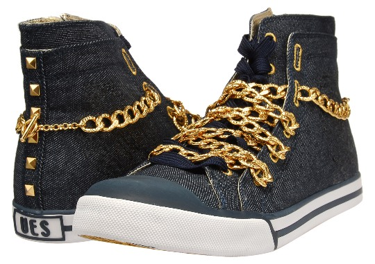 Upper Echelon Shoes %22Nise%22 Denim Sneakers