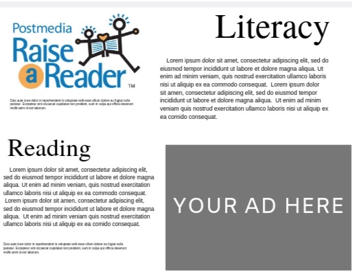 Bronze Level - Sponsor for $500 and receive a quarter page advertisement in community newspaper supplement ($1,000 approximate value).