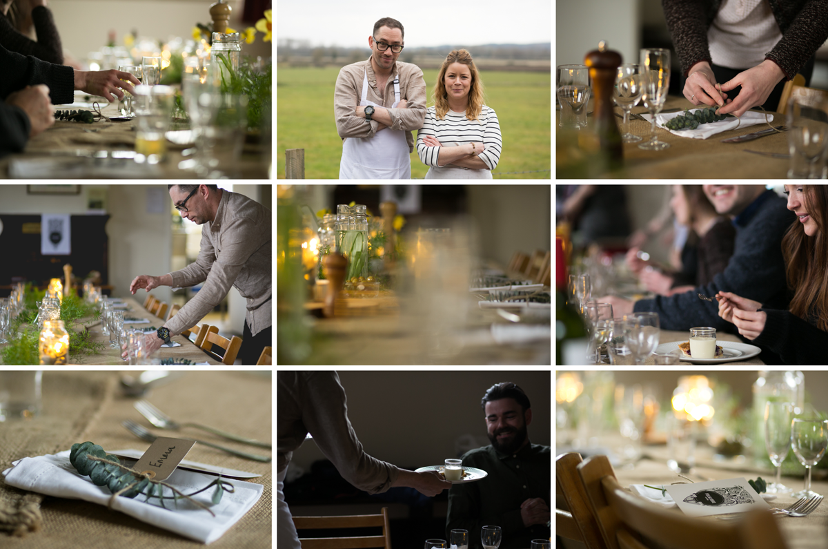 Pop-up dinner commissioned by the Florklore Kitchen, Berkshire