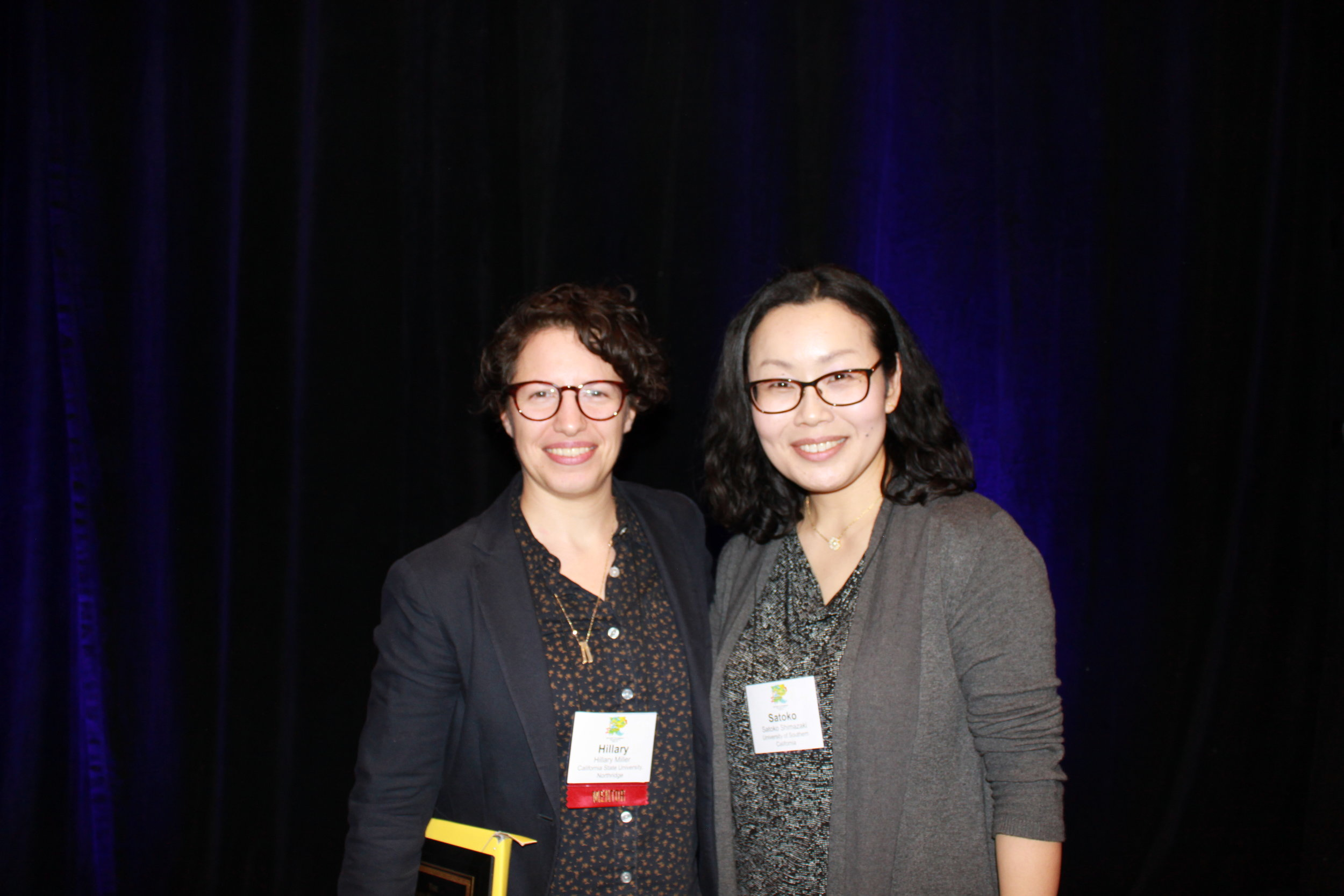 With Satoko Shimazaki at the American Society for Theatre Research (ASTR) awards luncheon, 2017.