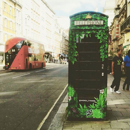 #LivingBox  is a permanent art and environmental installation in Bloomsbury to promote cleaner air in London; it can be found on Southampton Row (outside no.79)