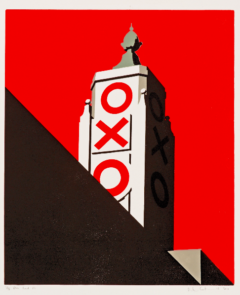 Oxo Red III, a print from 2011.  The Oxo Tower has a gallery at the ground floor which has also been the venue for Pauls' solo exhibitions, most recently in summer 2018.