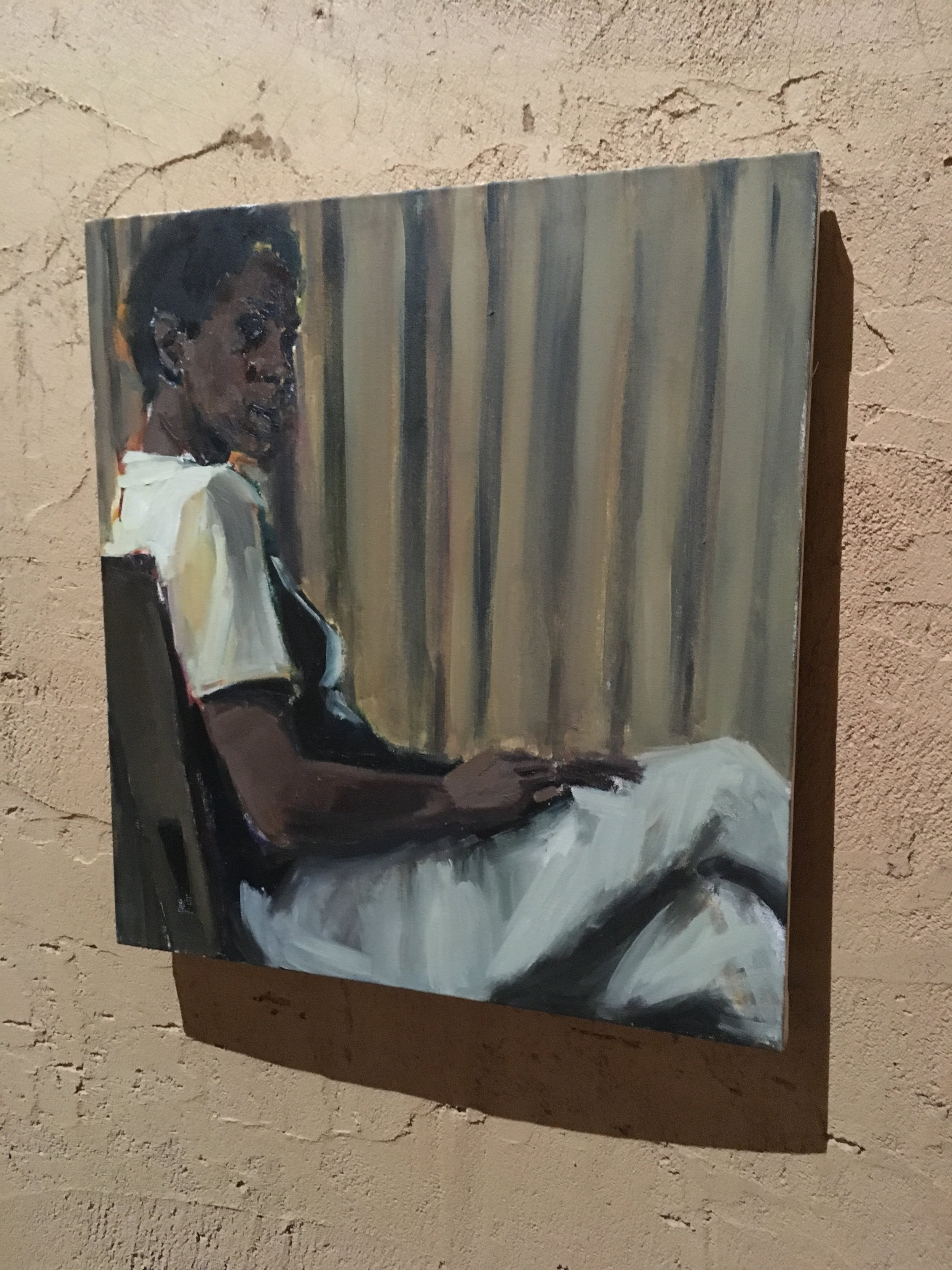 Lynette Yiadom-Boakye paintings at the Ghana Pavilion. She has a show at Tate Britain opening May 2020.  Details here