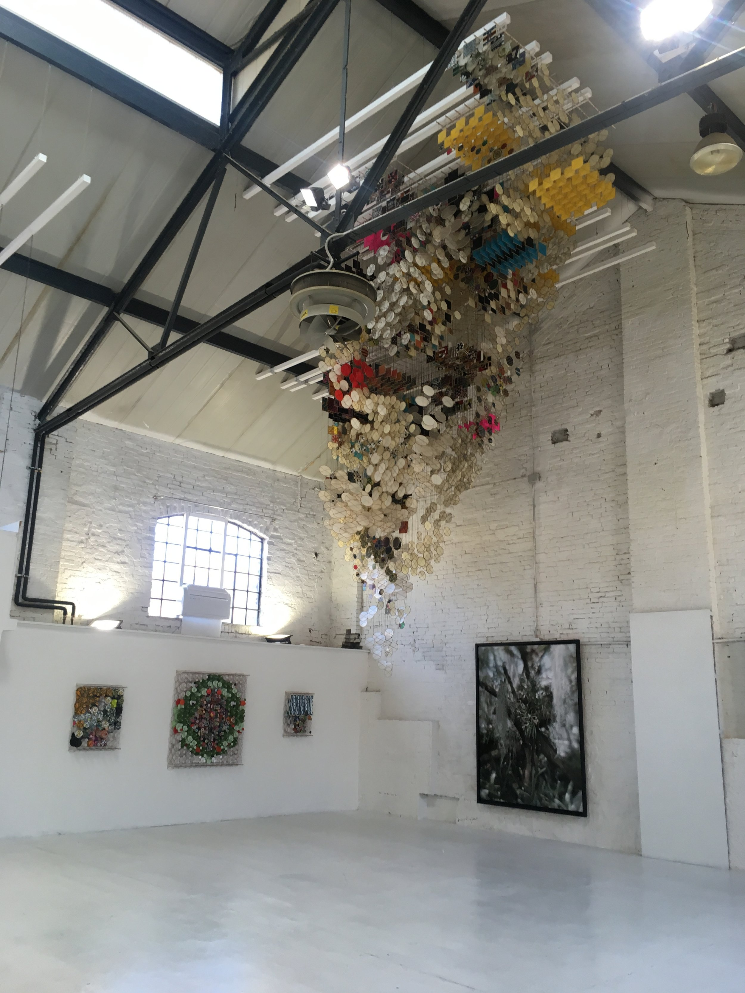 After Turner exhibition at Giudecca Art District. Art installation by Jacob Hashimoto