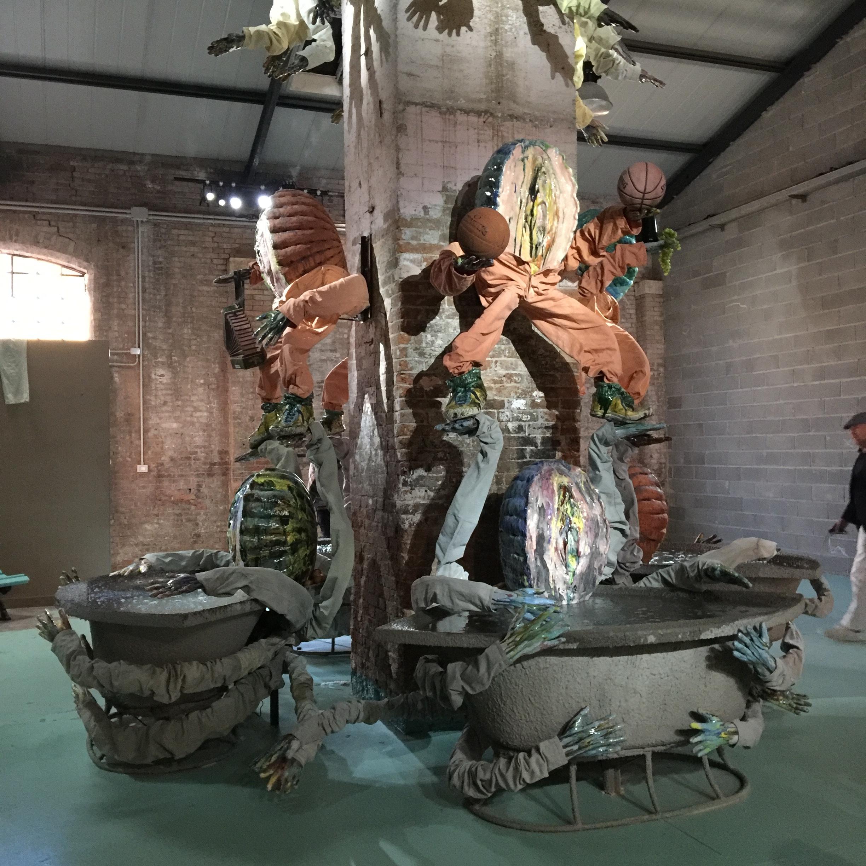 Estonian Pavilion at Venice Biennale at Giudecca Art District. by Kris Lemsalu