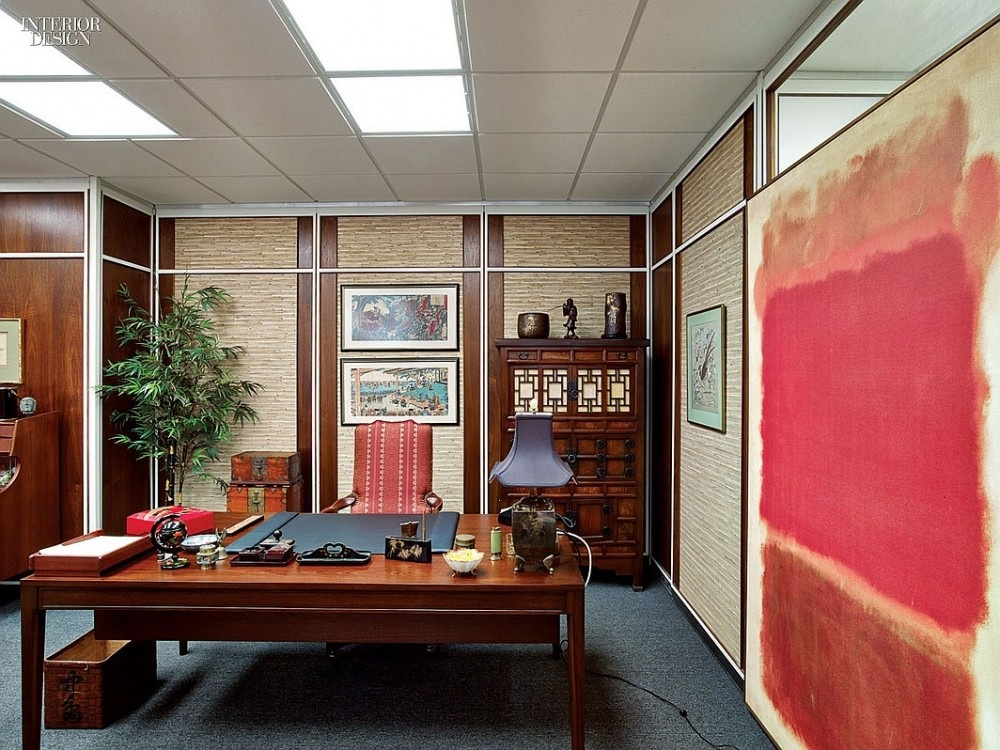A licensed copy of a Mark Rothko painting hangs in Bert Cooper's office — Photography by Eric Laignel