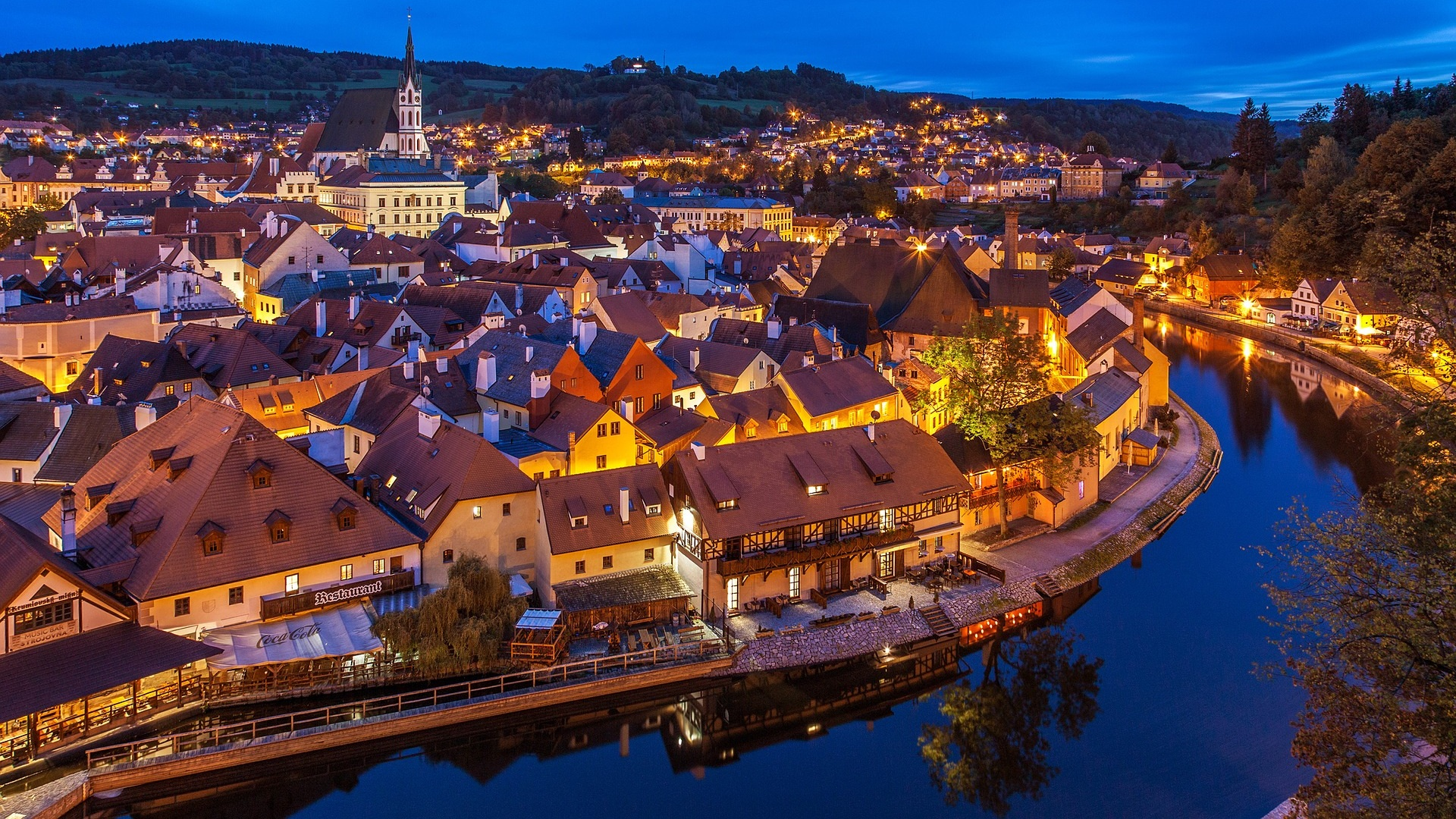 At night - Cesky Krumlov, Czech Republic