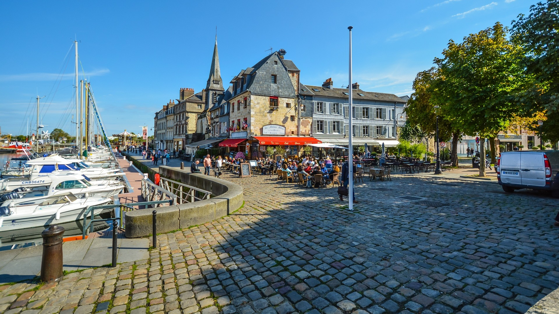 Marina Restaurants - Honfleur, France