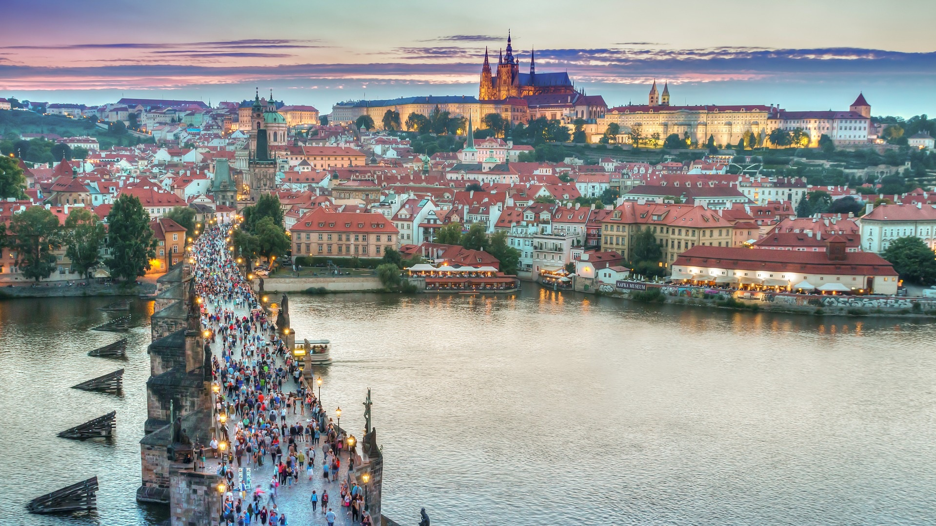 Charles Bridge & Prague Castle - Prague, Czech Republic
