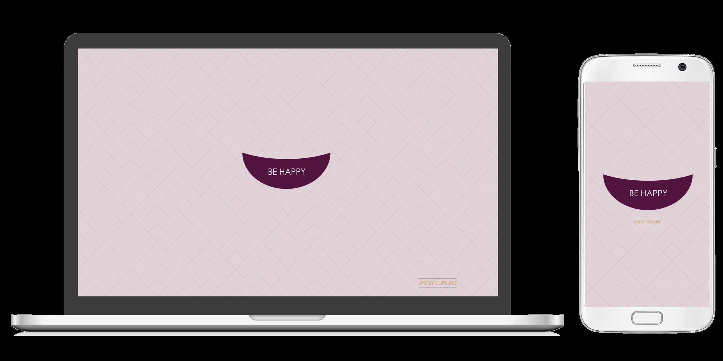 Free happy desktop and iphone wallpaper download