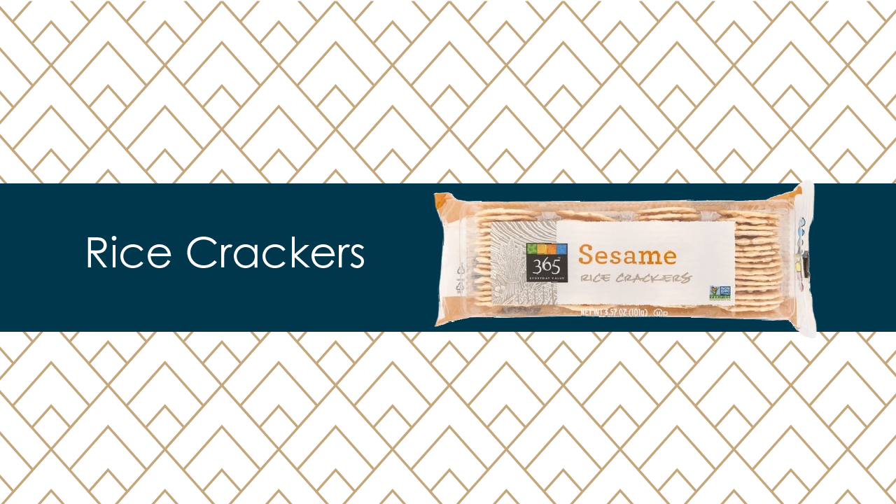 365 Sesame Rice crackers from whole foods