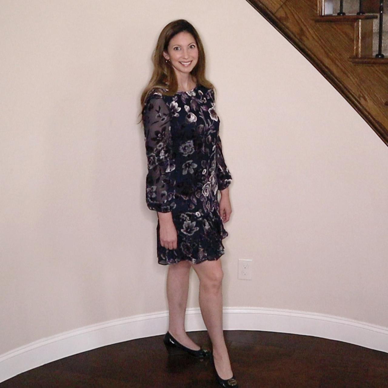 - Eliza J Floral Chiffon Shift Dress