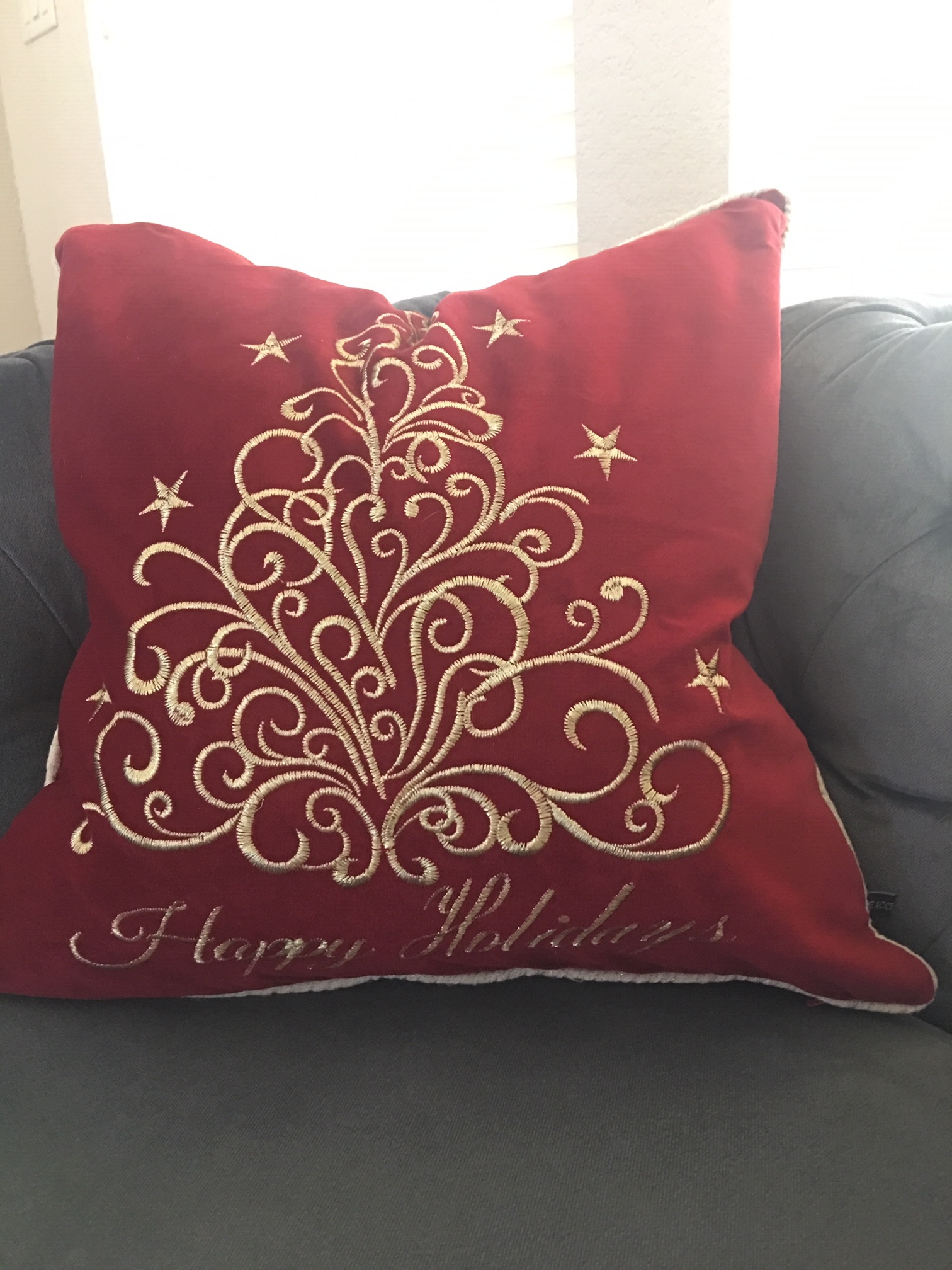 """- """"Happy Holidays"""" pillow covers"""