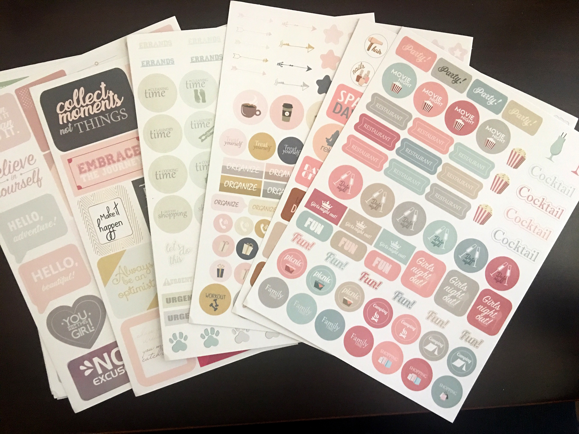 planner stickers - 2 of each sheet. Lots of options here!
