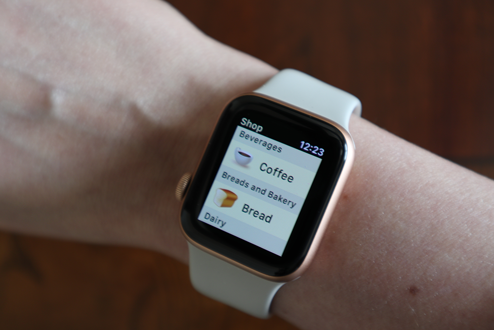 shopping list for apple watch
