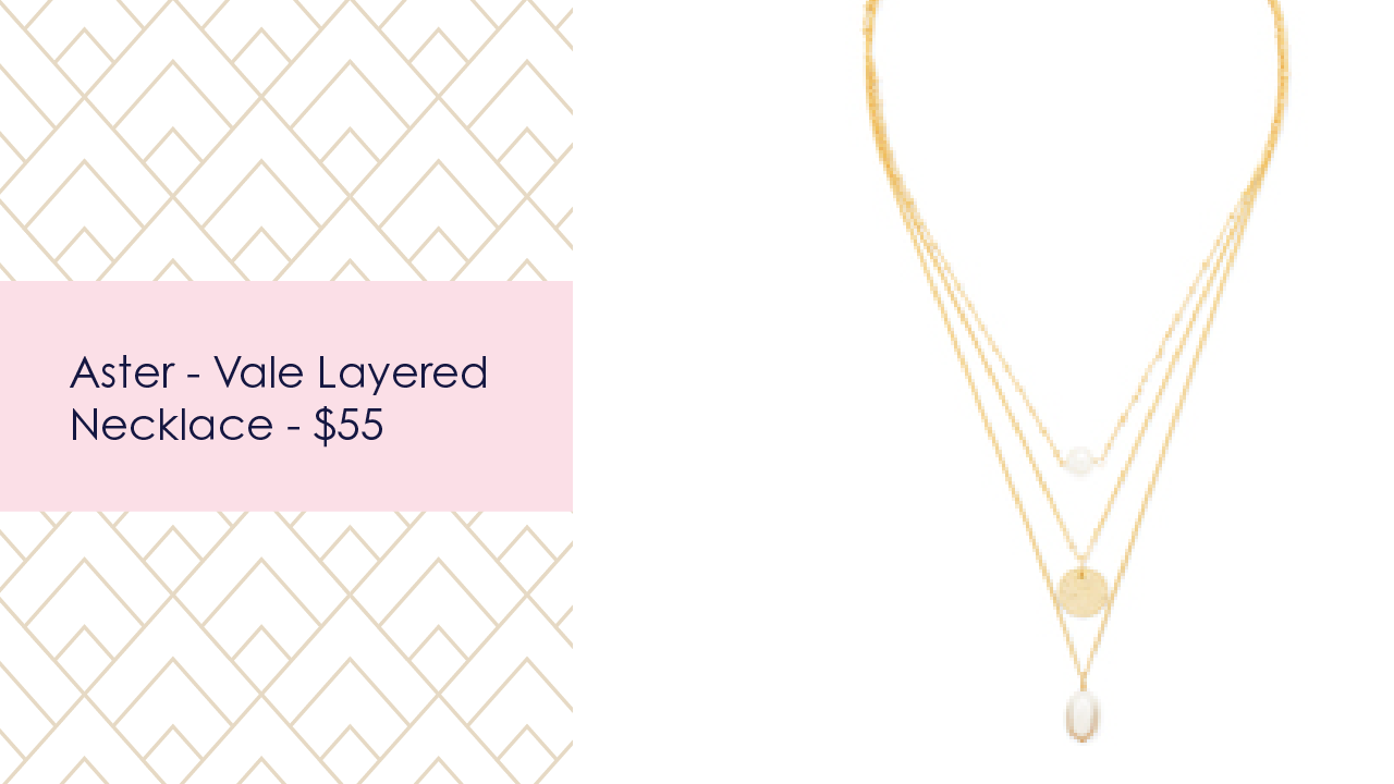 aster vale layered necklace