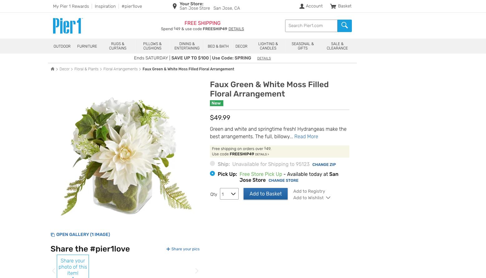 pier 1 floral