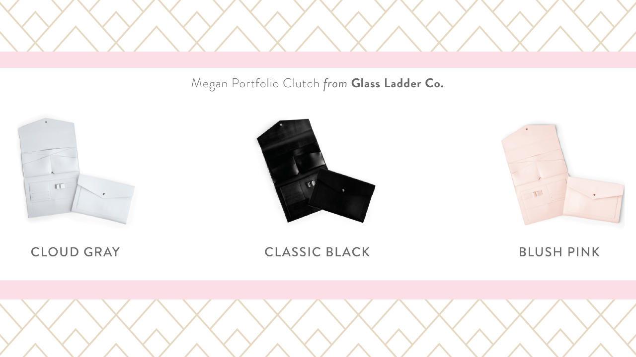 glass ladder vegan clutch