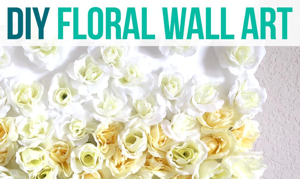 Diy Floral Wall Decor Same Look For Less Money Artsycupcake