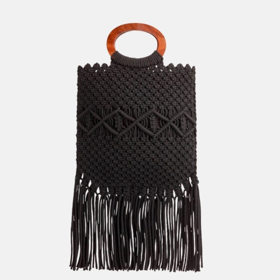 macrame purse - I couldn't find this exact one, but link to a similar style below.
