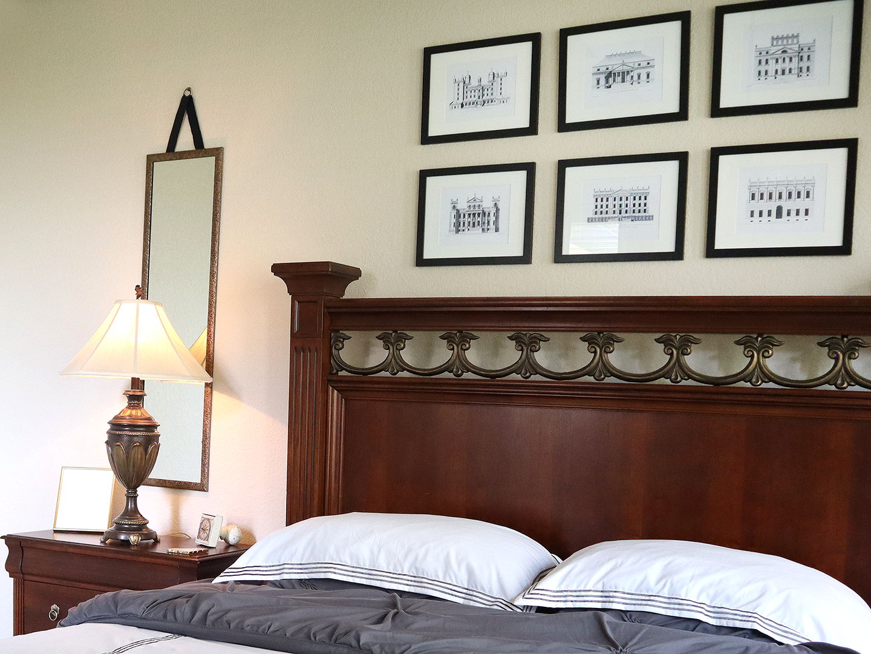 hanging mirrors in bedroom