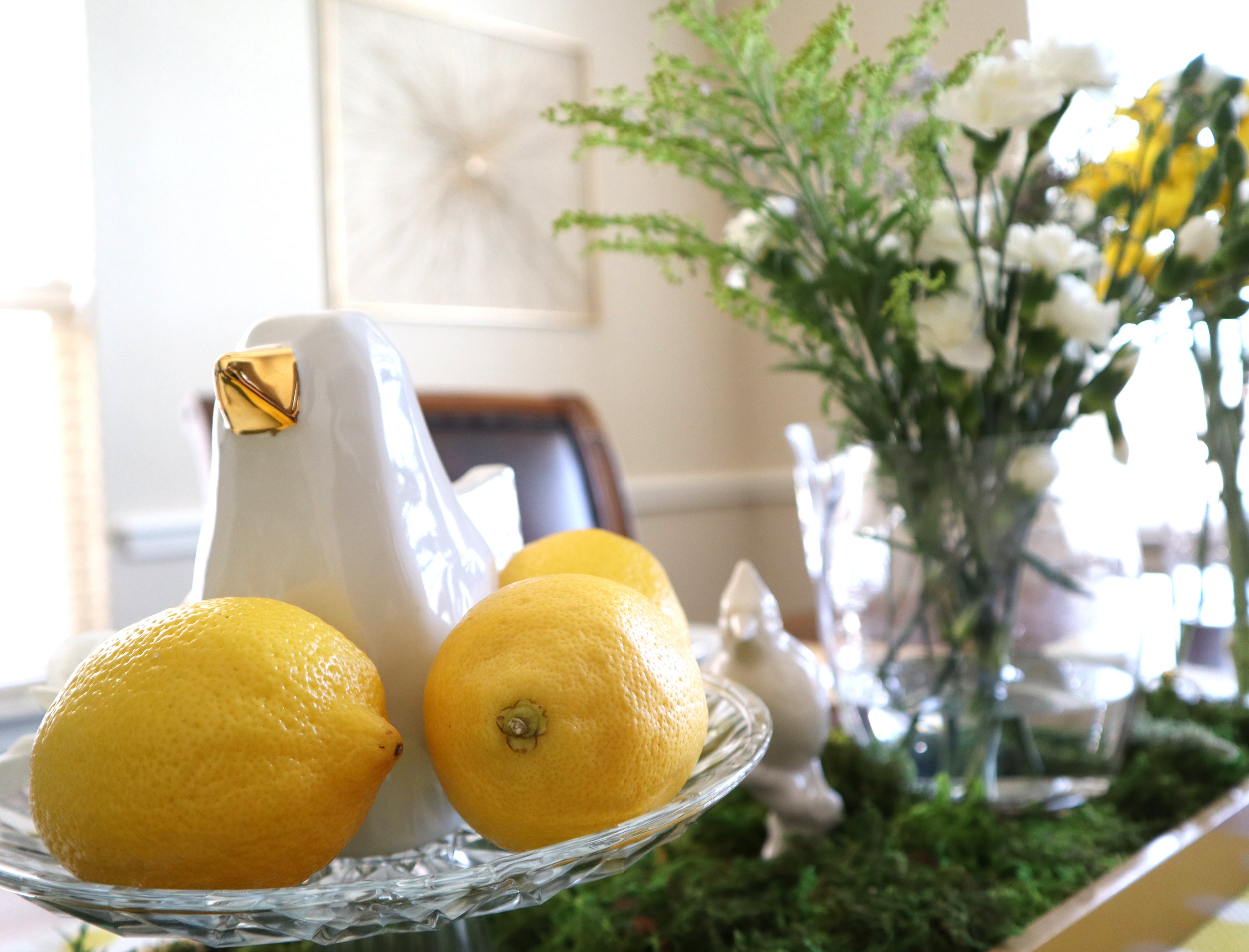 home decor with lemons