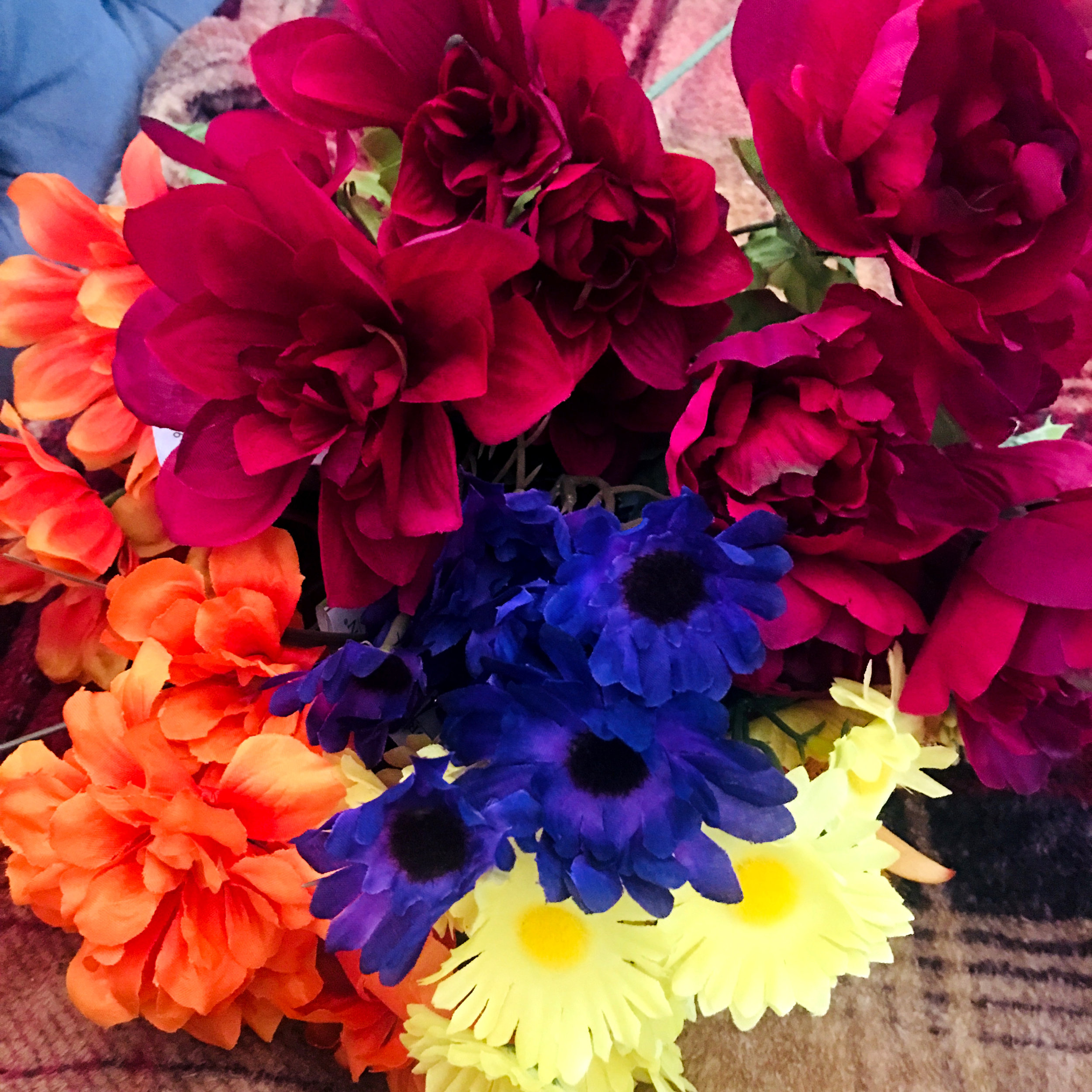 fall florals at dollar tree