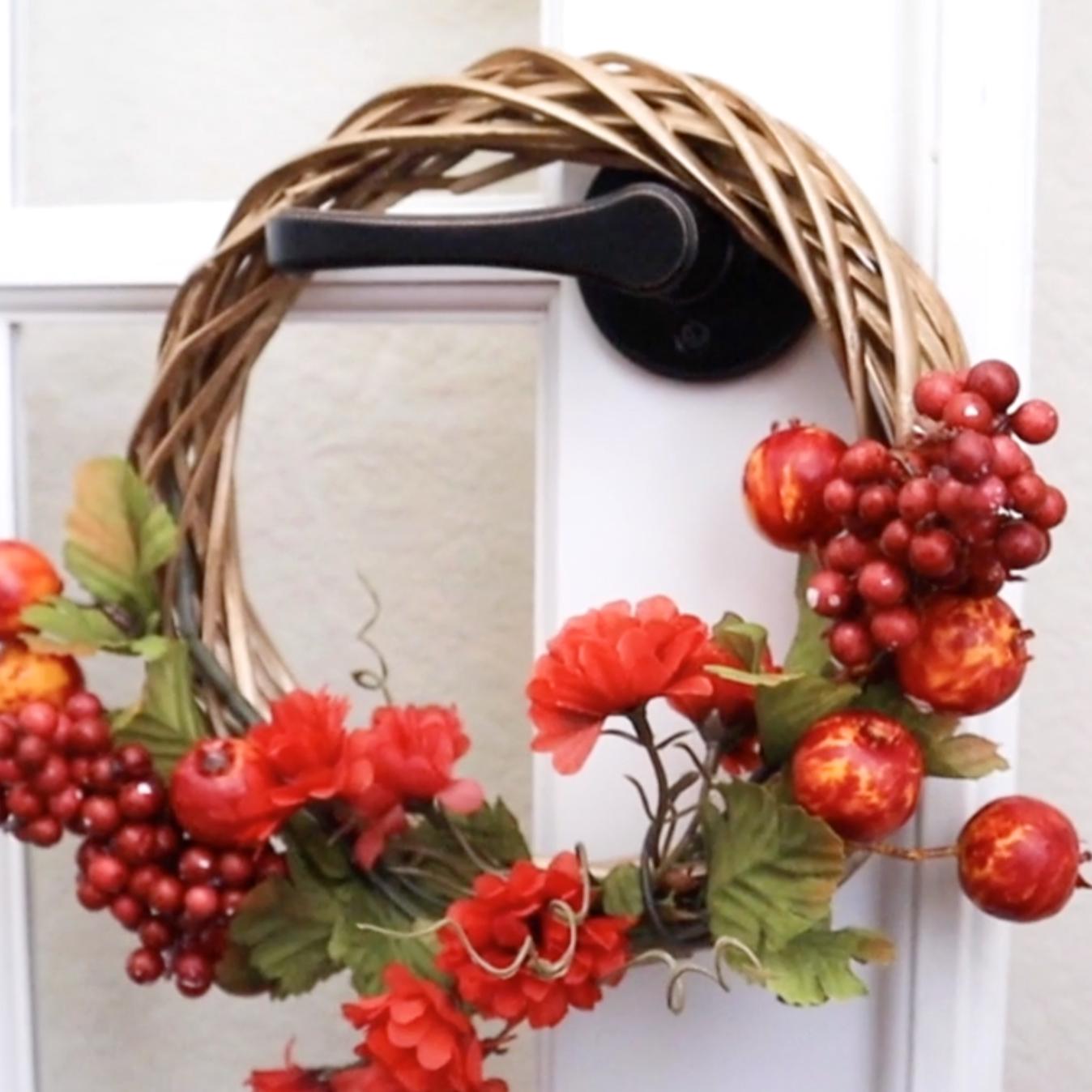 wreath on door handle