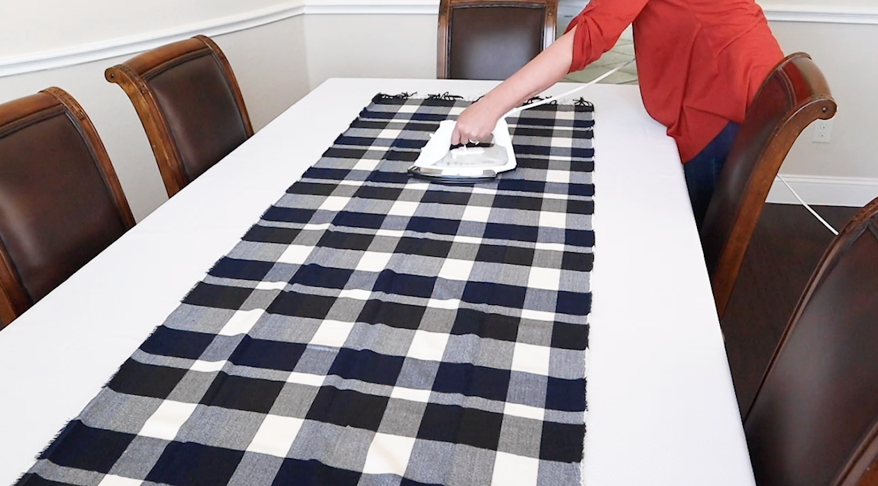 ironing tablecloth